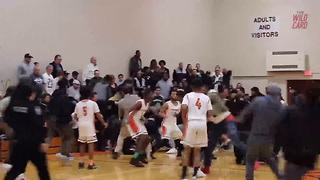 HS Basketball Game Ends In Huge Brawl - Video