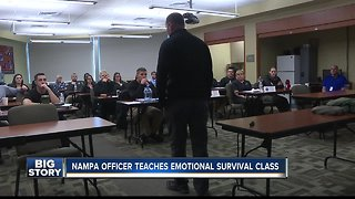 Nampa officer survived getting shot, now teaches 'Emotional Survival' class