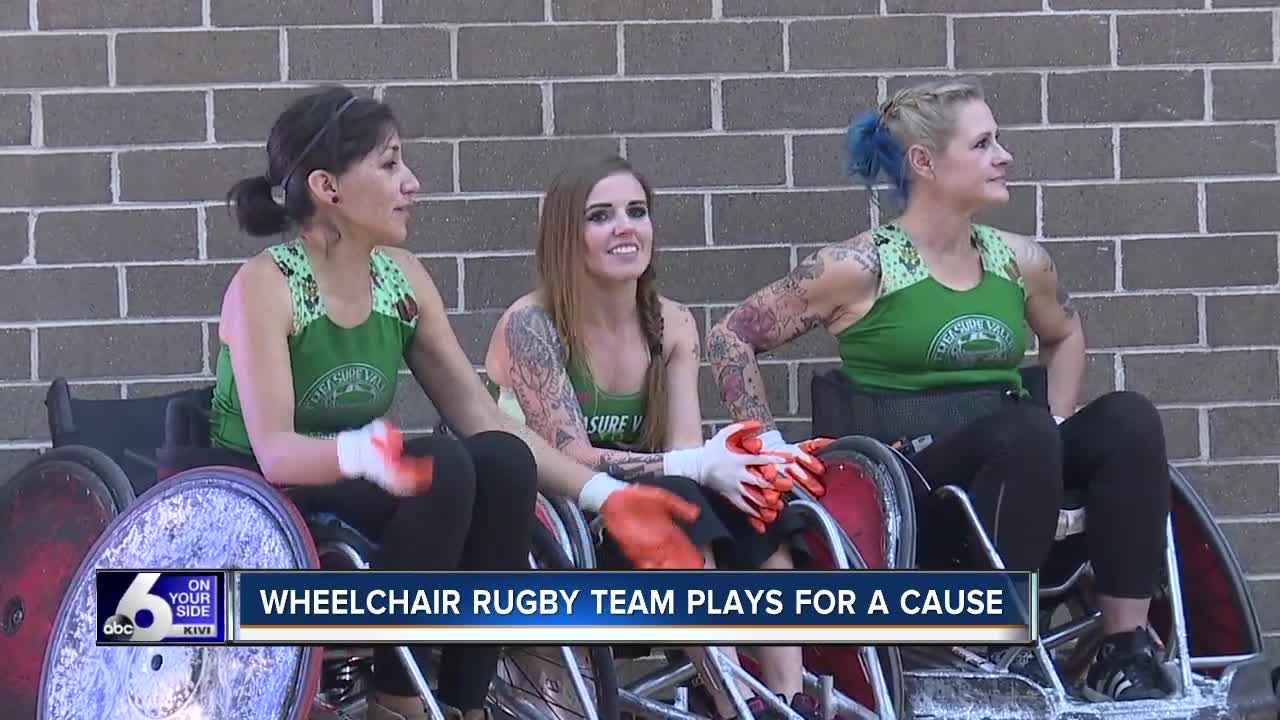 Wheelchair rugby team plays for a cause