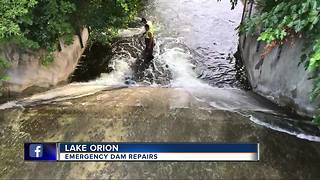 Emergency dam repairs needed in Lake Orion - Video