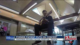 Former Madonna Rehabilitation patient celebrates recovery with performance at hospital - Video