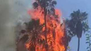 LA Firefighters Respond to Silver Lake Blaze - Video