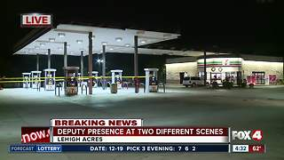 Heavy deputy presence reported early Wednesday morning at Lehigh Acres 7-Eleven - Video