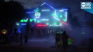 WOW! Gilbert homeowner goes all out with Halloween light display - Video