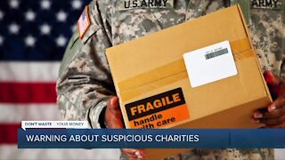 Dont Waste Your Money: Warning about suspicious charities