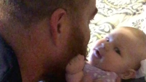 Cute Daddy, Daughter Moment Caught On Camera