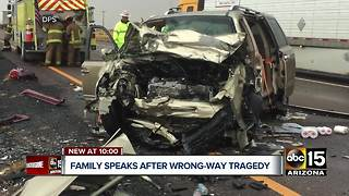 Family speaks after deadly wrong-way crash near Holbrook - Video