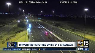 Video shows wrong-way driver busted on Loop 101