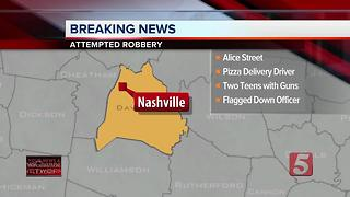 2 Teens Try To Rob Pizza Delivery Man - Video