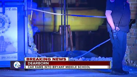 Car rams into Bryant Middle School in Dearborn