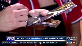 Nats player snubbed during hospital visit