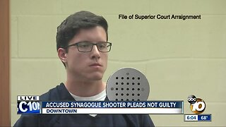 Synagogue shooting suspect pleads not guilty