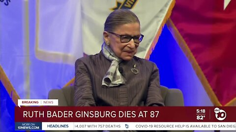 San Diego law professor reflects on death of Ruth Bader Ginsberg