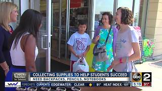 Good Morning Maryland team collected school supplies for PMJ Foundation - Video