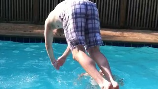 Four Guys Jump Into A Pool Ring, And It's Epic! - Video