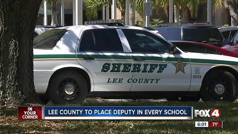 Sheriff's deputies to be present at all Lee County schools