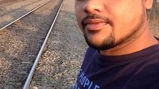 Selfie-crazy student sustains near-fatal injuries while trying to take video with fast-moving train - Video