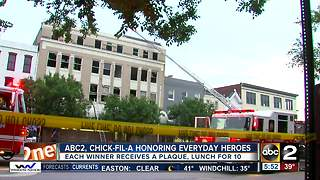 ABC2 Chick fil a honoring everyday heroes - Video