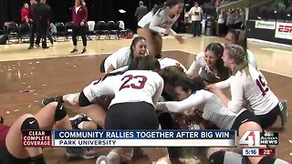 Community rallies together after Park University volleyball win