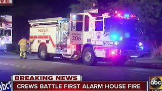 Crews battle first-alarm fire in Mesa - Video