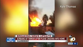 Screams of terror caught on camera after plane crashes into home - Video