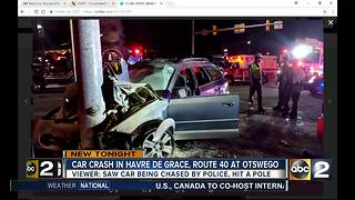 1 person in trauma after car accident in Havre de Grace - Video