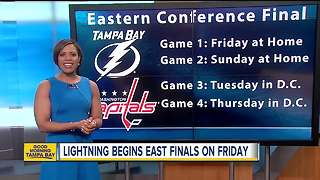 Tampa Bay Lightning announce schedule for Eastern Conference Finals - Video