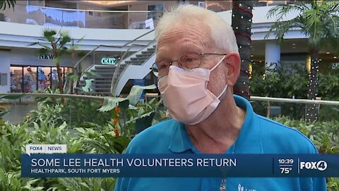 Lee Health volunteers start to return