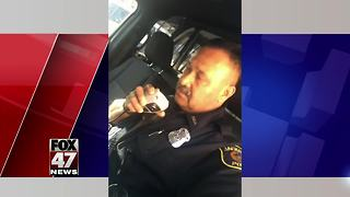Local police officer gives emotional final call to colleagues - Video