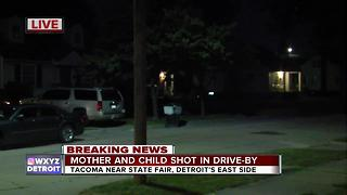 Detroit mother, 2-year-old daughter shot in drive-by