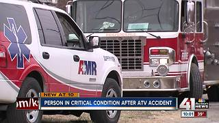 Person life-flighted after ATV accident
