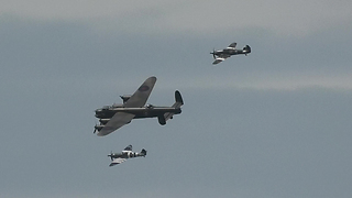 Amazing Display From The Battle of Britain Memorial Flight At Blackpool Airshow