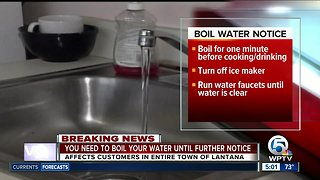 Boil water notice issued for Lantana customers