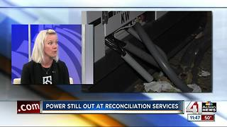 Interview: Power still out at Reconciliation Services - Video