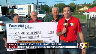 Furniture Fair donates $1,000 to Crime Stoppers of Greater Cincinnati and Northern Kentucky - Video