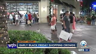 Shoppers hit the stores Thanksgiving night
