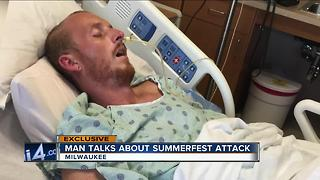 Victim talks about his Summerfest attack one year later - Video