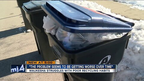 'The problem seems to be getting worse over time': Waukesha analyzing recycling contamination