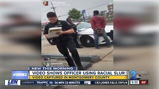 Montgomery County Police Officer caught on camera using racial slur