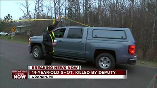Sheriff's deputy shoots teen on Northern Wisconsin Indian reservation - Video