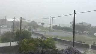 High Winds Sweep Reunion Island as Cyclone Berguitta Nears - Video
