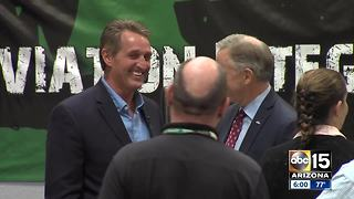 Jeff Flake says Republican party is 'toast' into hot mic - Video