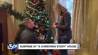 First-ever marriage proposal at A Christmas Story House
