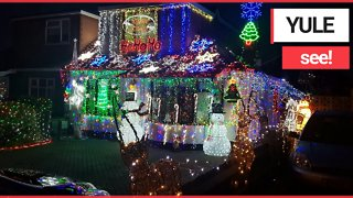 UK's most festive house with over 50,000 lights
