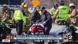 Woman dead, 5 injured in serious overdose car crash in Annapolis - Video