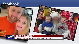 Family of four killed in house fire - Video