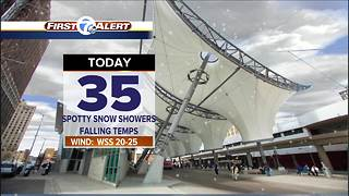 Falling temps and more snow - Video