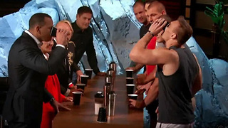 Rob Gronkowski's Family Plays Flip Cup Against Alex Rodgriguez & Mark Cuban on Shark Tank - Video