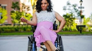 Paralysed mother shot at four times by ex-husband defies disability through dance and modelling - Video