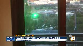 Laser pointer harassing families - Video